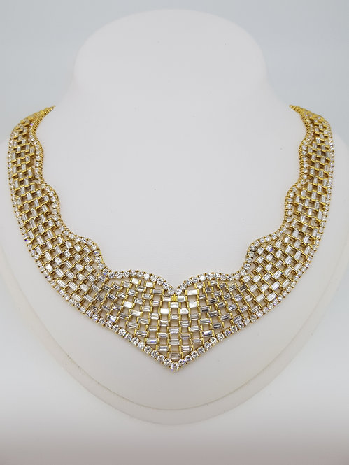 Diamond collar necklace.
