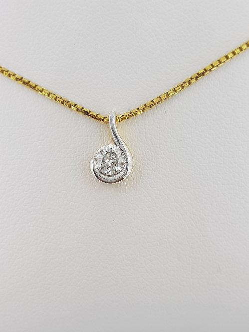Diamond pendant and chain.