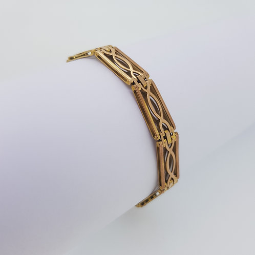 Victorian 9ct 12.6g gate bracelet
