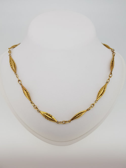 French 18ct chain 40cm
