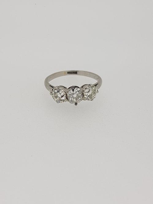 Classic diamond 3 stone ring