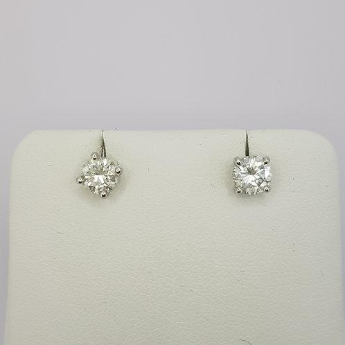 Diamond ear studs.