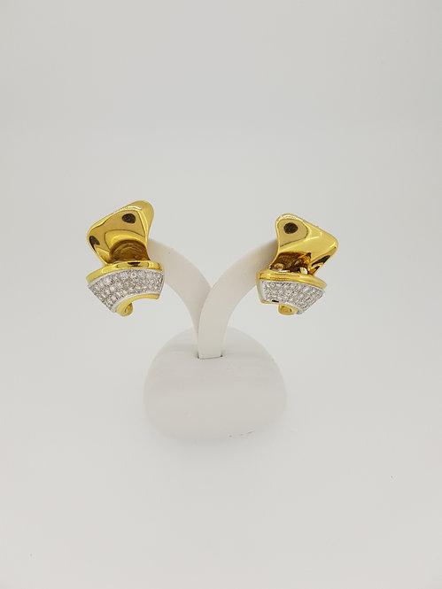 Italian diamond cluster earrings.