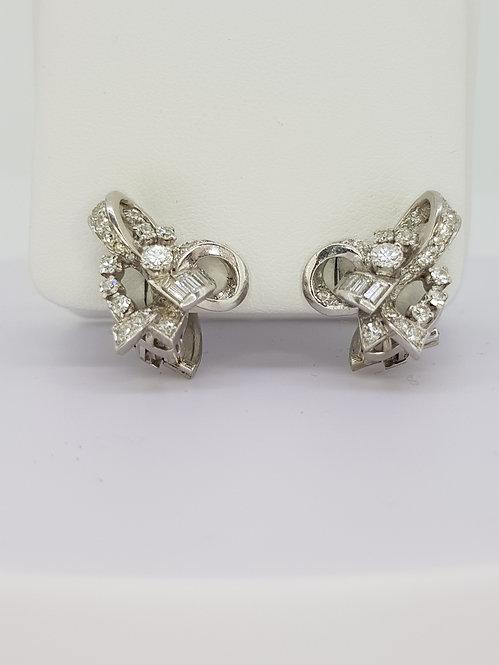Circa 1960 diamond earrings.