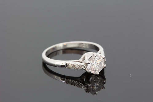 Diamond solitaire ring d.96cts