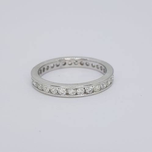 18ct Full diamond eternity band est D1.40cts size P