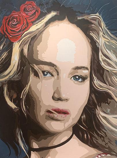 Jennifer Lawrence - Flowers