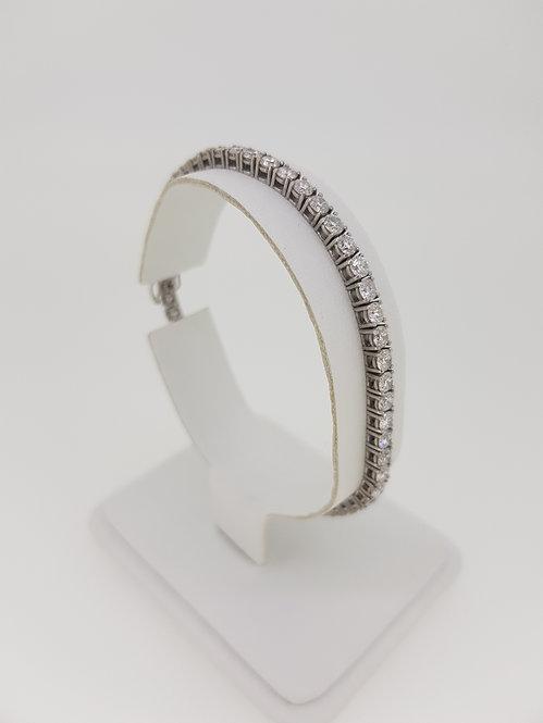 17.5cm diamond line bracelet 5.60cts