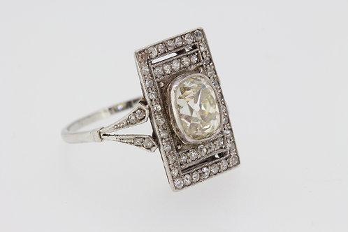 Art Deco diamond ring Centre stone estimated to be 2.35 carats