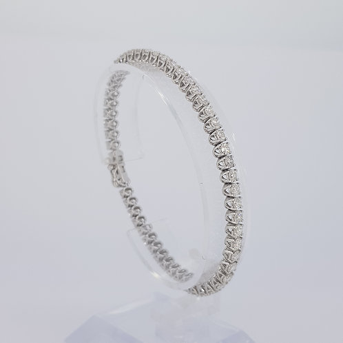 Diamond line bracelet d6.22cts