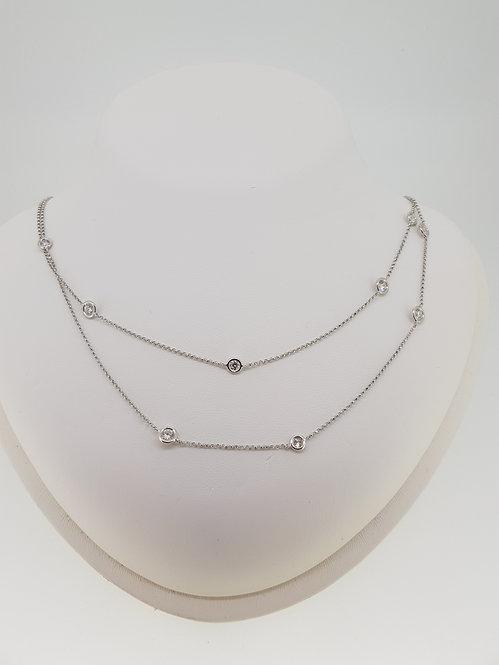 Brilliant ct diamond long chain 2.72cts
