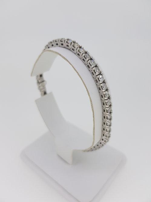 18.5cm diamond line bracelet g colour 6.46cts