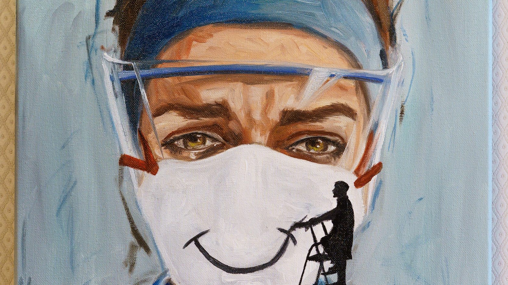 Rebecca Wright - 'Painting on a smile' - FINALIST