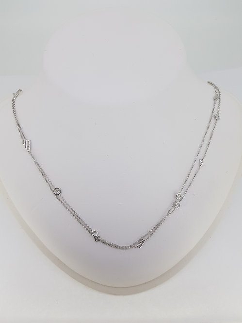 Random shaped diamond chain necklace.