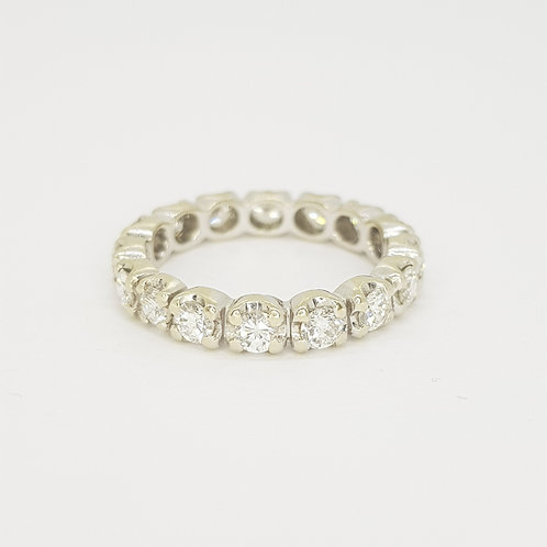 Full diamond eternity ring. D1.00cts
