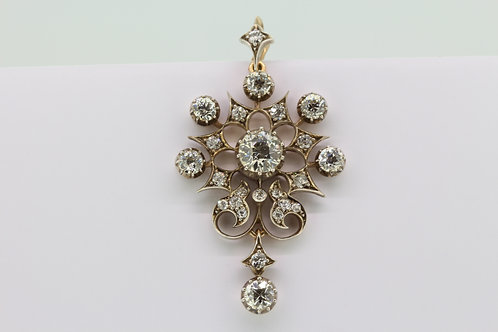 Antique diamond pendant.