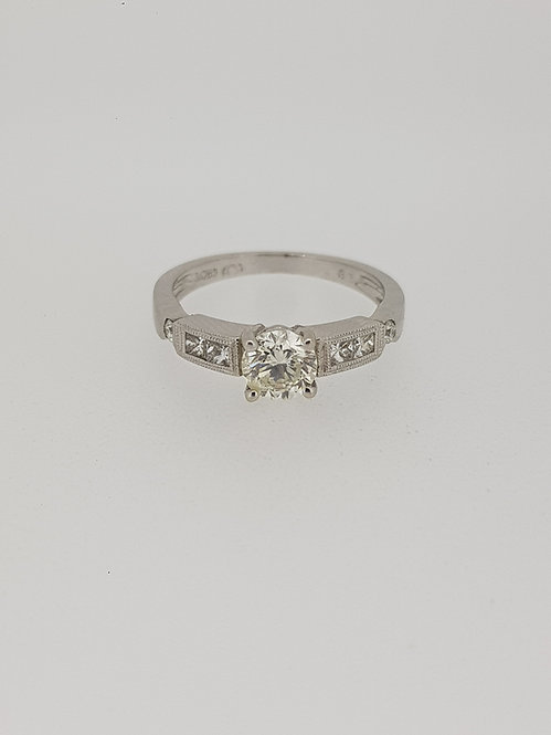 Solitaire diamond ring.