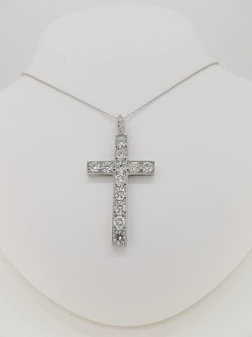 18ct diamond cross 3.0cts
