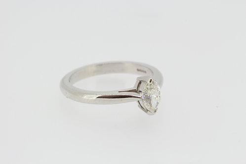 Platinum and diamond single stone