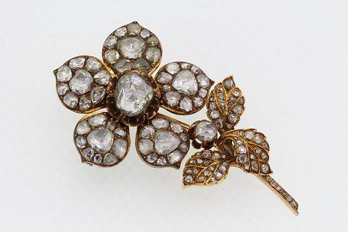 Victorian rose diamond brooch.