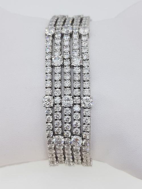 Five line diamond bracelet G colour.