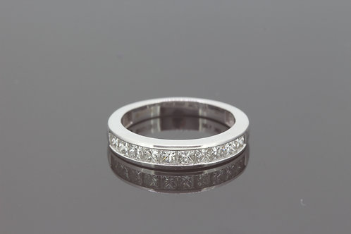 Half eternity diamond ring 1.0cts