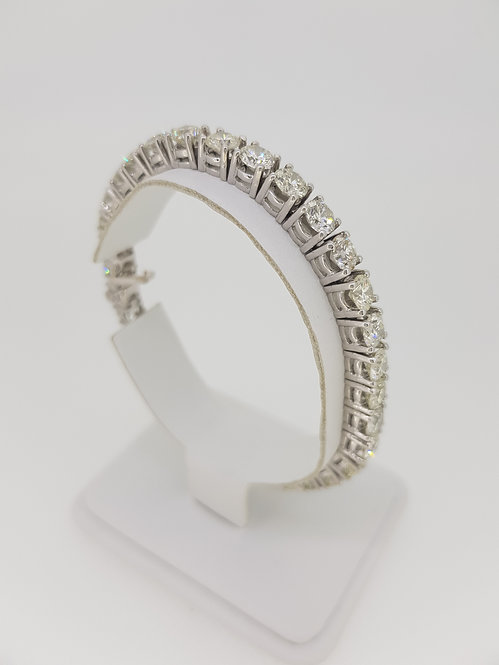 18.5cm diamond line bracelet 18.02cts