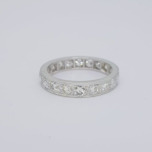 18ct Full brilliant cut diamond eternity band est2.0cts size N1/2