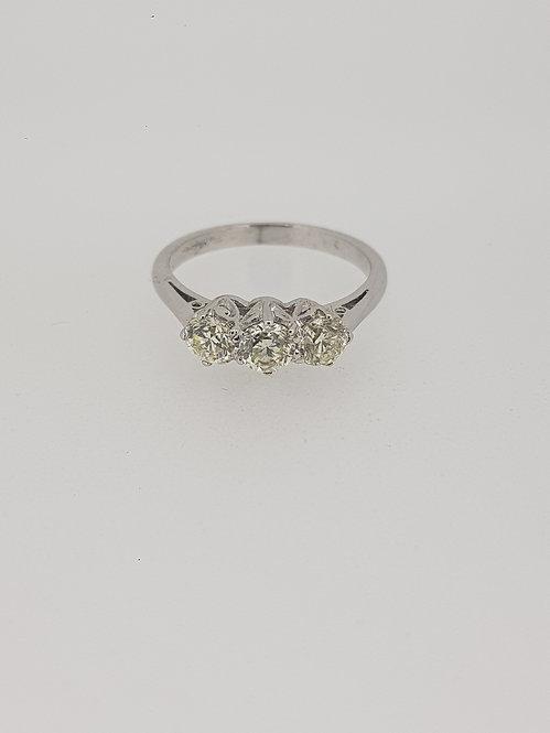 Traditional diamond 3 stone ring.
