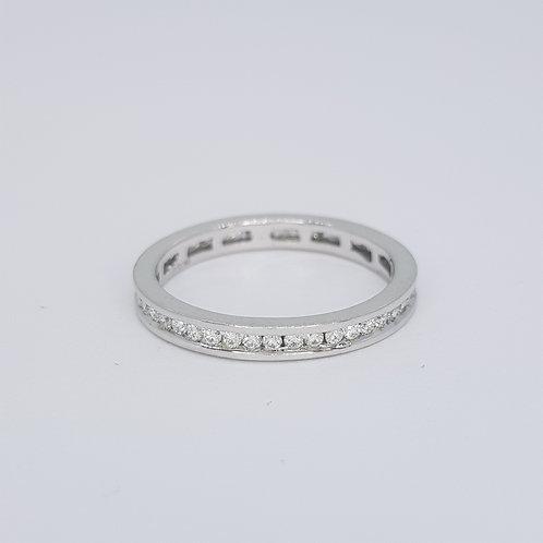 Full Diamond eternity band 18ct est D1.00cts size N 1/2
