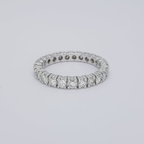 Full diamond 18ct eternity band. D2.00cts