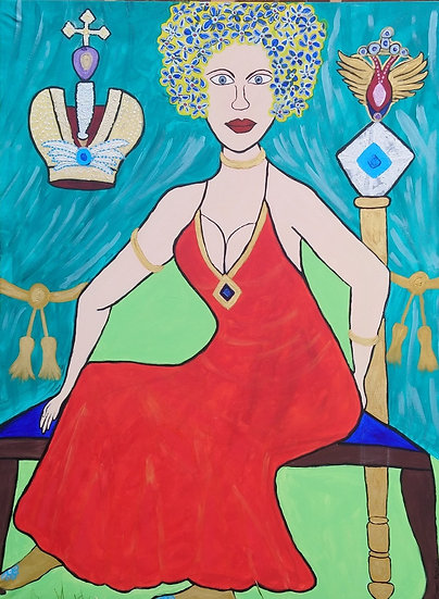 Catherine the great - Queen of seduction - Acrylic on canvas