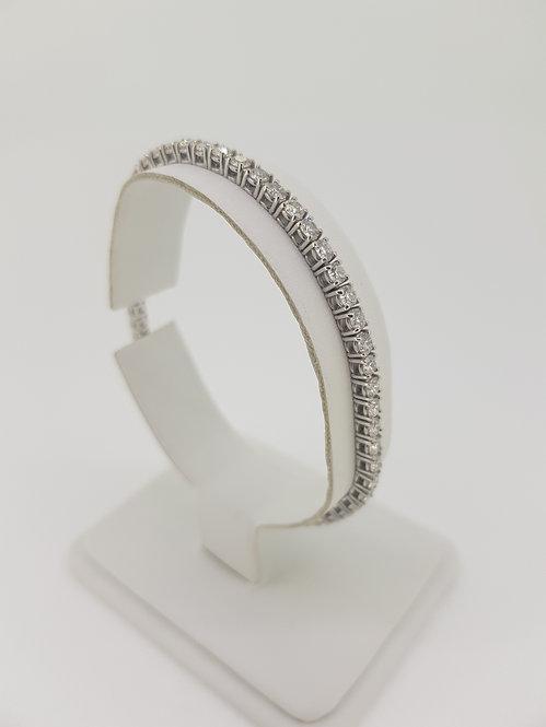 Diamond line bracelet d5.0cts