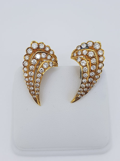 Clip on diamond earrings
