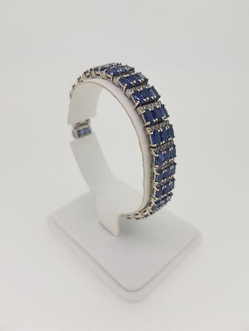 14ct sapphire and diamond bracelet