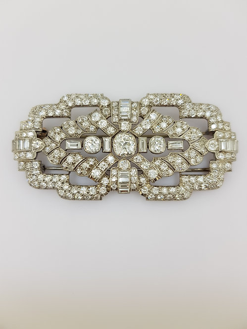 Edwardian diamond brooch in platinum