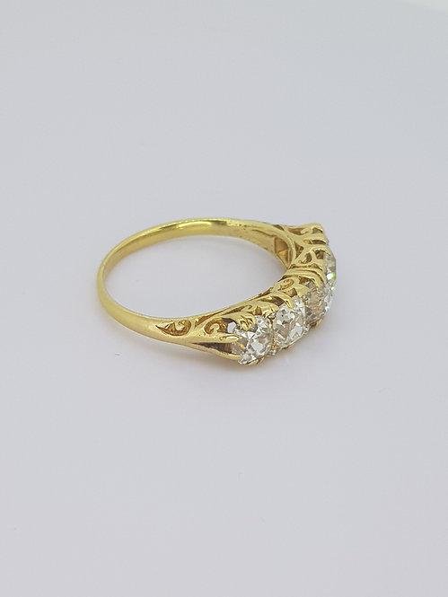 Victorian five stone diamond ring.