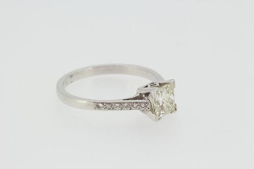 Princess cut single stone ring