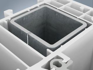 Nos fenêtres uPVC  comportent des renforts fermés en acier