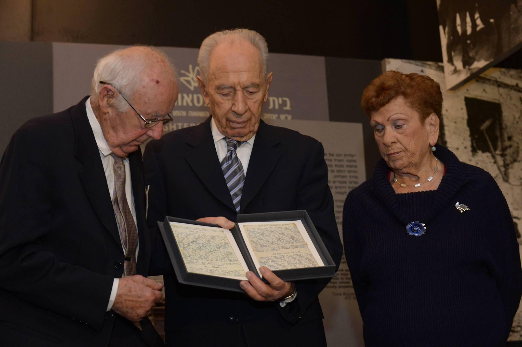עם נשיא המדינה שמעון פרס