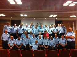 חווקה במפגש עם קציני משטרה