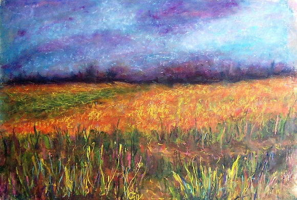 Amber Fields, Amethyst Skies - SOLD