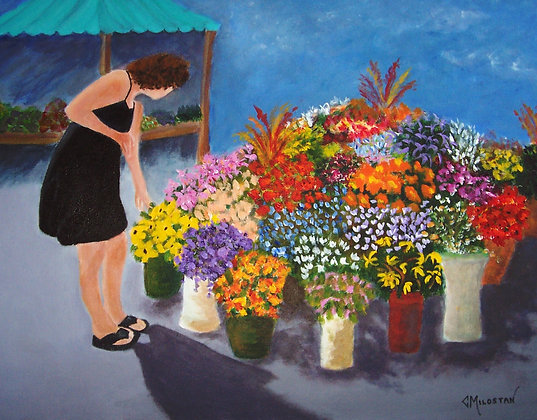 Beauty in the Marketplace -SOLD