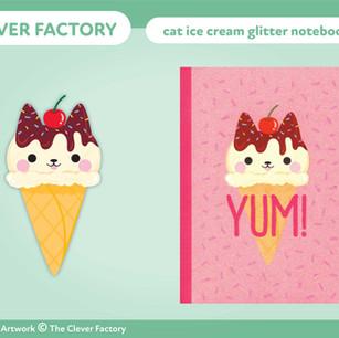 TCF - Glitter Notebook