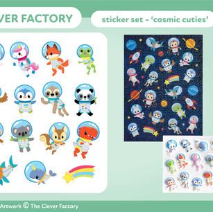 TCF - Sticker set - Space Theme