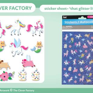 TCF - Sticker Sheet - Unicorn Theme