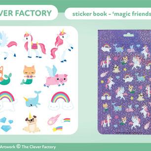 TCF - Sticker Book - Unicorn Theme