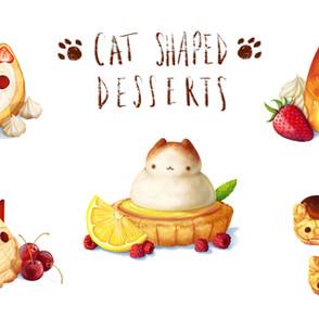 Cat Shaped Desserts