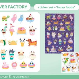 TCF - Sticker Set - Animal Food Theme