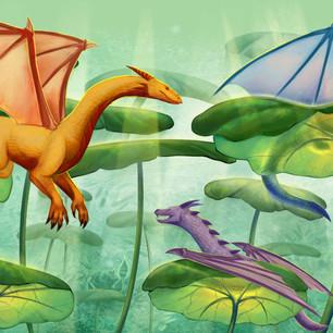 Lilypad Dragons Cup